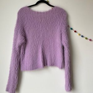 fuzzy purple urban outfitters sweater
